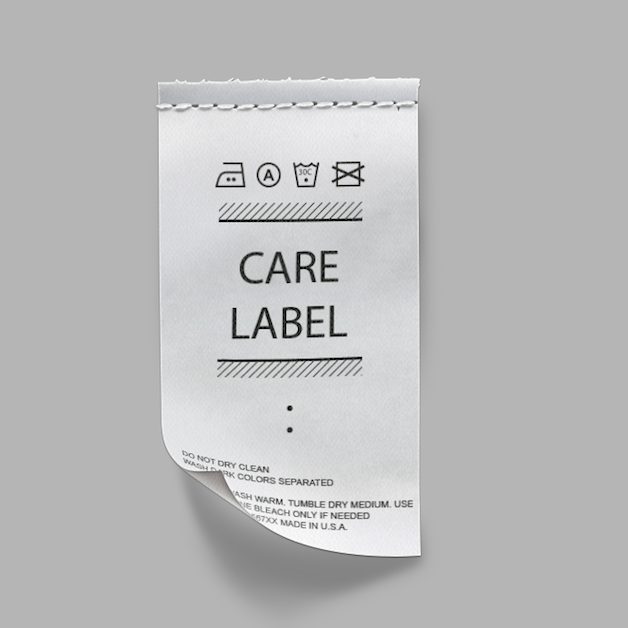 Matte Care Labels