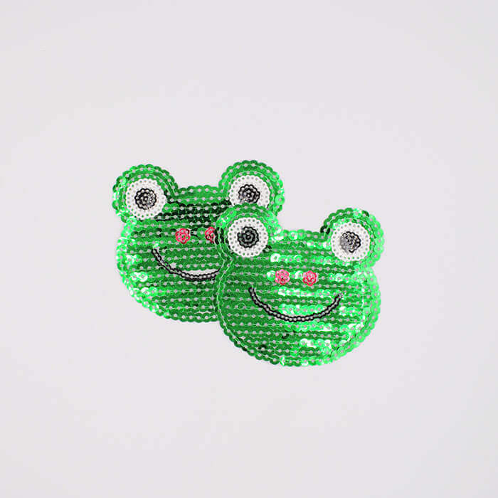 SEQUINS patches frog