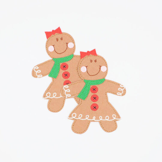 applique ginger breadman