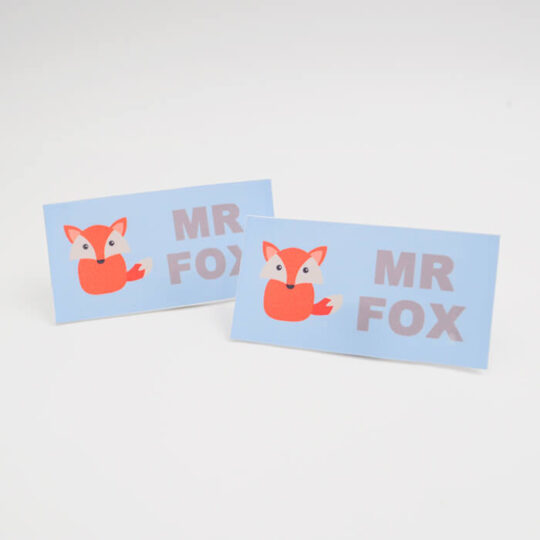 name labels mr fox