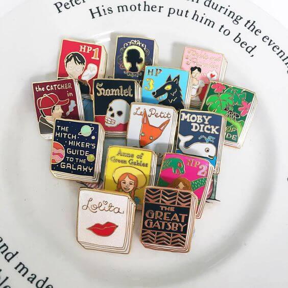 Book pins by Pin Club