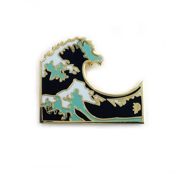 Wave Pin by Shop Jeen
