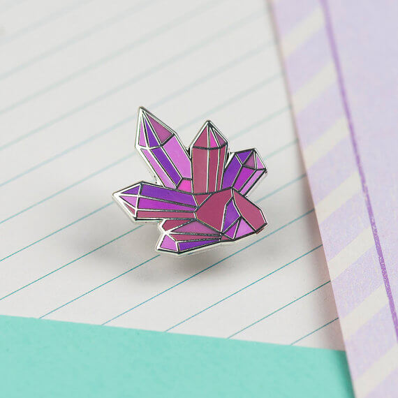 Pink Crystal Cluster by Punky Pins