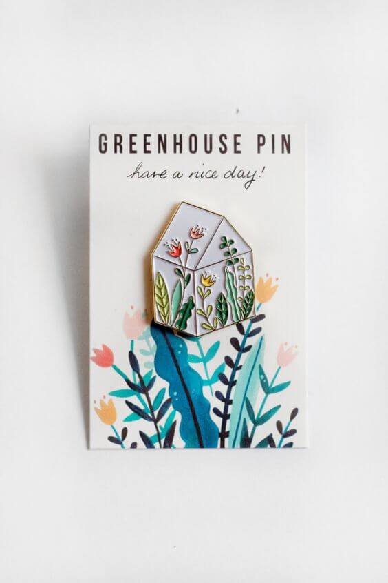 Green House Pin by Haveaniceday