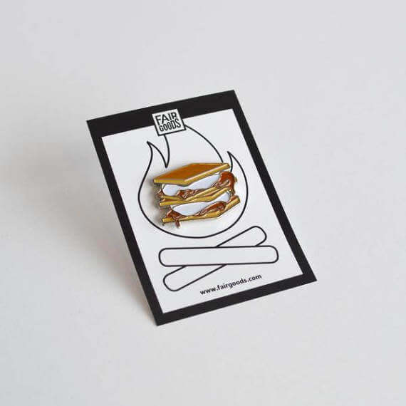 S'mores Pin by Fairgoods