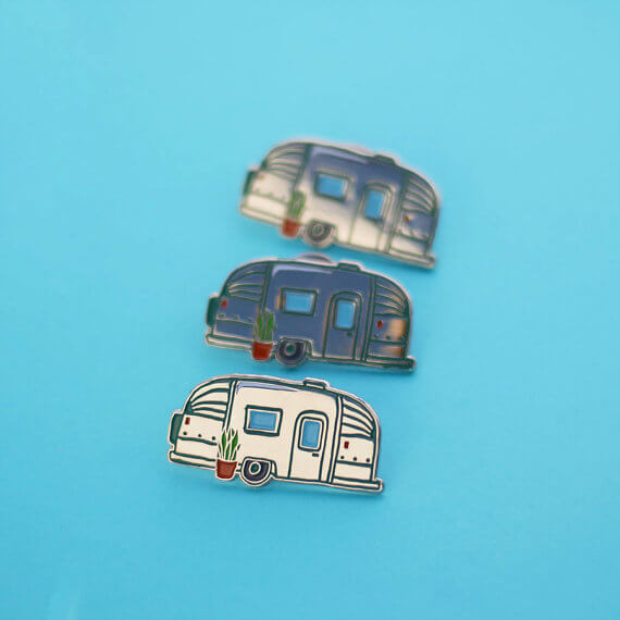 Airstream Enamel Pin by Tees and Tank You Shop