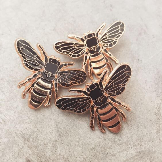 Honey Bee Lapel Pin by Erin Greenough